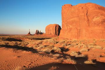 Wall Murals Orange Glow Monument Valley in Utah and Arizona, Navajo Nation, USA