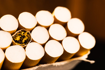Cigarette macro view