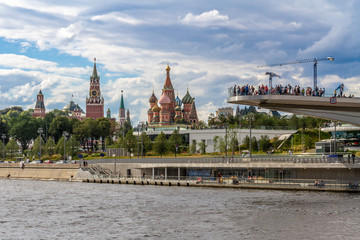 view of  st.basil cathedral and kremlin