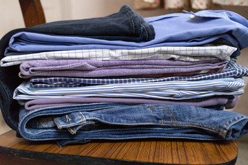 Stack of Ironed clothes
