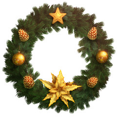 Beautiful christmas wreath illustration