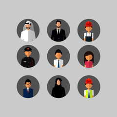 different employee character...vector illustration set