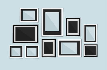 Collection of vector blank photo frames