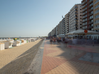 Image taken with a slow shutter on the dike in Blankenberge.
