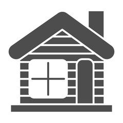 Winter house solid icon. Christmas house vector illustration isolated on white. Gingerbread house glyph style design, designed for web and app. Eps 10.