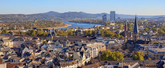 Blick auf Bonn, Deutschland Fototapete