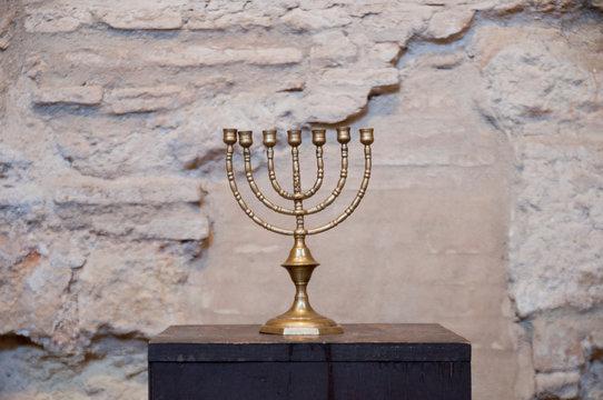 Menora, Sinagoga de Córdoba, Córdoba, Andalusien, Spanien