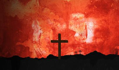 Religious Crucifix Sunset