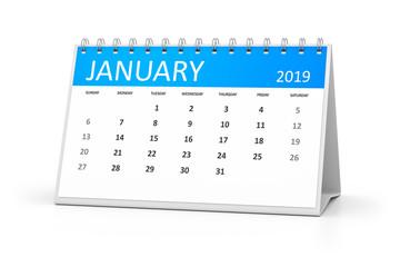 table calendar 2019 january