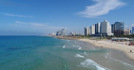 Tel Aviv Israel seacost skyline