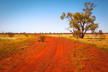 Dirty road in Australia outback, Northern Territory, Australia