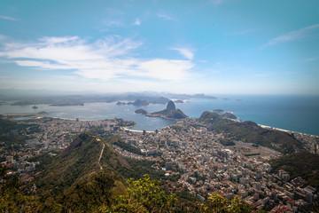 Aerial view of Rio de Janeiro and Sugar Loaf Mountain - Rio de Janeiro, Brazil