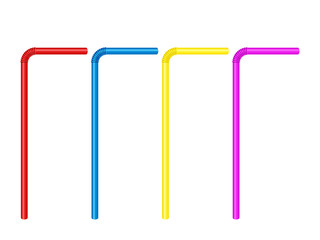 Drinking straw set