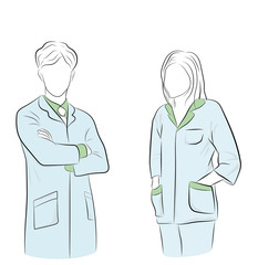male and female doctors. medical day vector illustration