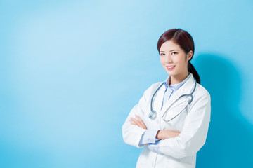 woman doctor smile to you