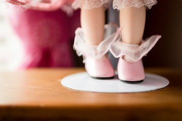 Shoe and Stocking of a China Doll