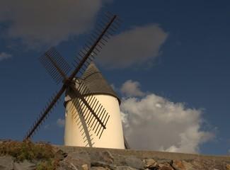 Fond de hotte en verre imprimé Moulins moulin de jard-sur-mer en vendée,au bord de la mer