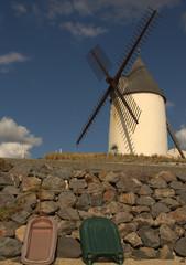 Fotorolgordijn Molens moulin de jard-sur-mer en vendée,au bord de la mer