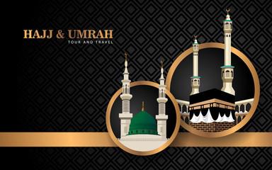 hajj and umrah creative banner concept