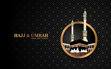 hajj and umrah luxury concept with gold