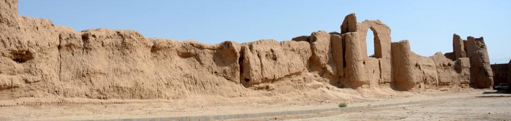 Mud fort, Nushabad, Iran
