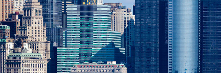Photo sur Aluminium New York City Wall Street Windows