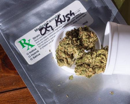 Medical marijuana from dispensary in California