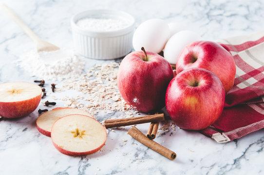 baking ingredients for apple crisp