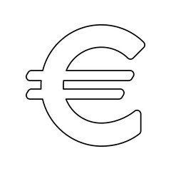 Euro sign icon. Simple outline vector of web, minimalistic set for UI and UX, website or mobile application