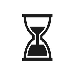 Vintage hourglass, sandglass timer, clock flat icon for apps and websites – for stock