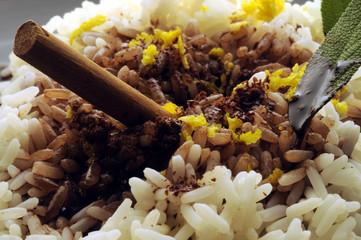 Chocolate risotto Risotto al cioccolato 烩饭和巧克力 Rice