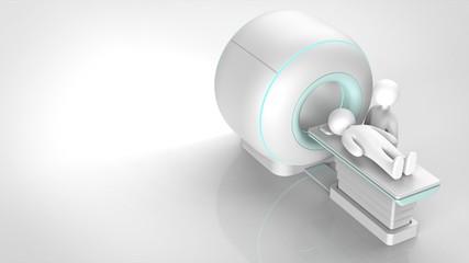 MRIと患者 右