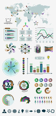 Vector infographic patterns