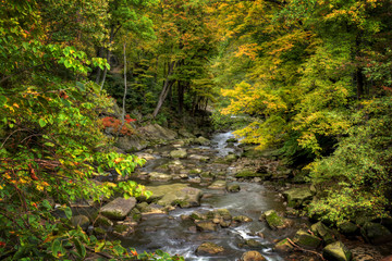 Rocky River In Autumn
