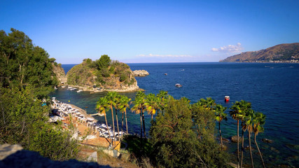 Wall Mural - The coastline near Taormina, Sicily.
