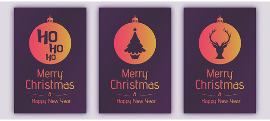 Christmas golden cards greeting