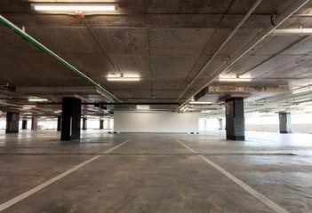 Parking garage interior, industrial building,Empty underground interior in apartment or in supermarket