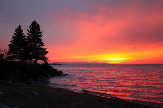 Northwoods Lake Superior Sunsest