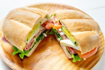 "Mexican ham sandwich. ""Torta"""