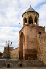 Грузинский древний православный храм в Мцхете..Вертикально.