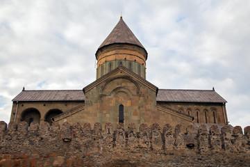 Грузинский древний православный храм в Мцхета .Горизонтально.