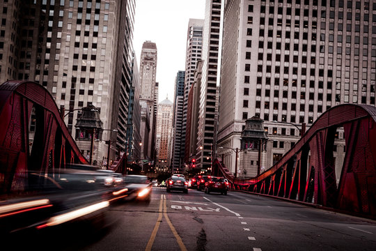 Downtown traffic in Chicago