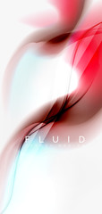 Fluid flowing wave abstract background