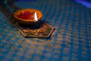 Indian Festival Diwali , Diwali lamp Wall mural