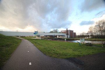 Double pumping station in Moordrecht named abraham Kroesgemaal to keep the lowest polder of Europe dry
