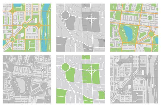 Maps collection. Navigation tool