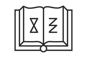 the book with the alchemical and sacred signs and spells