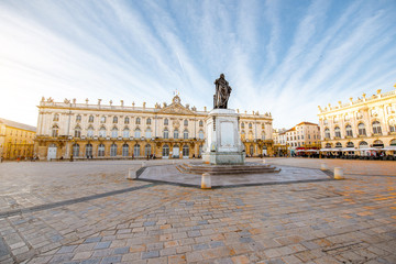 Morning view on the huge Stanislas square with monument in the old town of Nancy city, France Fototapete