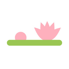 Simple vector of a pink water lily.