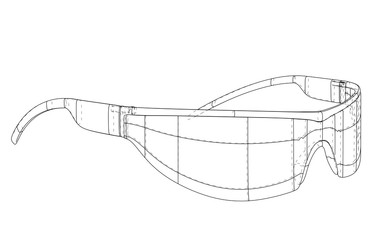 VR Virtual Reality Glasses Concept. Vector